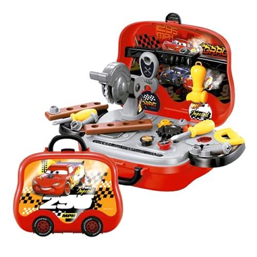 Goplas Maletín Set de Herramientas de Juguete para Niños de Disney Cars, Juega a Reparar como un Profesional en Todos Lados Junto a Rayo Mcqueen y Cruz Ramírez