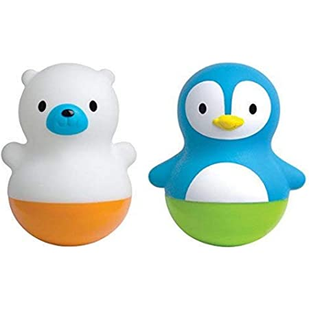 Munchkin - Jouets flotteurs de bain, Culbuto, Ourson et pingouin