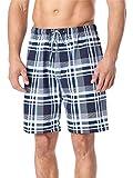Timone Pantalones Cortos de Pijama Vestidos de Casa Hombre TI30-116(Cuadros1 (9555408), L)