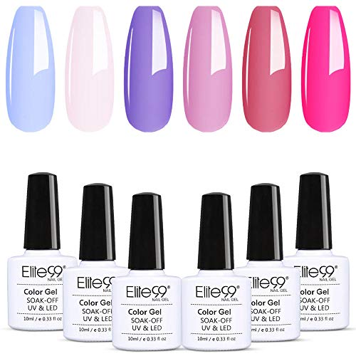 Elite99 Beeren Serie Nagellack Set French Nägel Design, Gellack Frenchnägel Maniküre, UV Gel Nail...