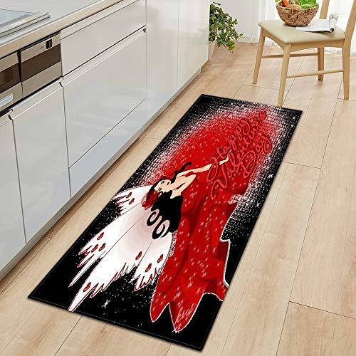 Küche Anti-Rutsch-Matte Schlafzimmer Badezimmer Haustür Matte 3D-Druck Home Bodendekoration Wohnzimmer Teppich A17 60x90cm