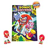 Sonic Tomy Collector Series Action Figures with Comic, Classic Knuckles and Modern Knuckles (Pack of 2)