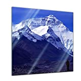Glasbild - Mount Everest - 30 x 30 cm - Deko Glas -