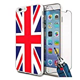 Union Jack Design Hard Case Cover & Glass For Various