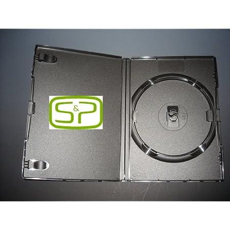 AMARAY - Cajas para DVD (para 1 Disco, 25 Unidades)