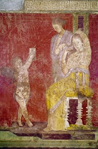 Posterazzi Italy Pompeii Villa of The Mysteries #3 Fresco Circa 60-50 B.C. Roman Art Poster Print (24 x 36) Varies