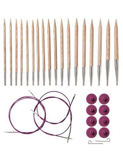 Knit Picks Options Wood Interchangeable Knitting Needle Set - US 4-11 (Sunstruck)