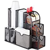 Coffee Station and Kitchen Counter Organizer and Storage, Mesh Metal Caddy by Halter, Black