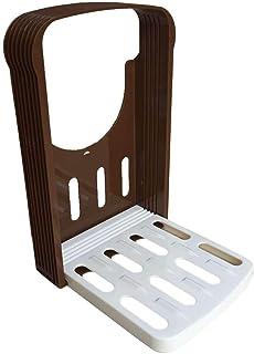 Vokmon Pain Slicer Toast Coupe Guide Cutter Moule Sandwich Maker Bagel Pain Machine à découper réglable avec 4 tranches Ep...