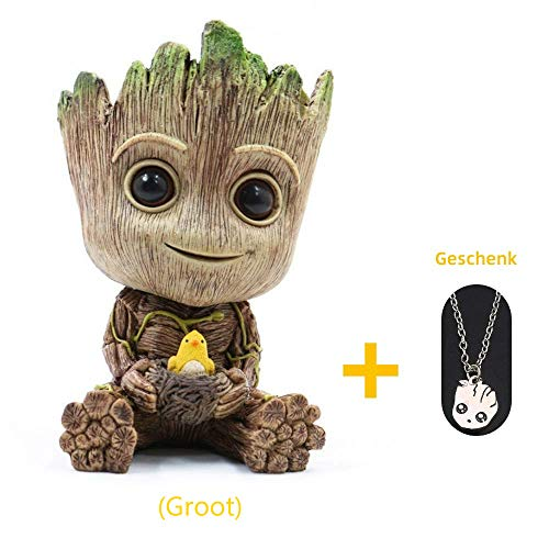 Baby Groot bloempot penhouder, penhouder met stripfiguur, cadeau-idee voor kinderen voor Kerstmis (Groot)