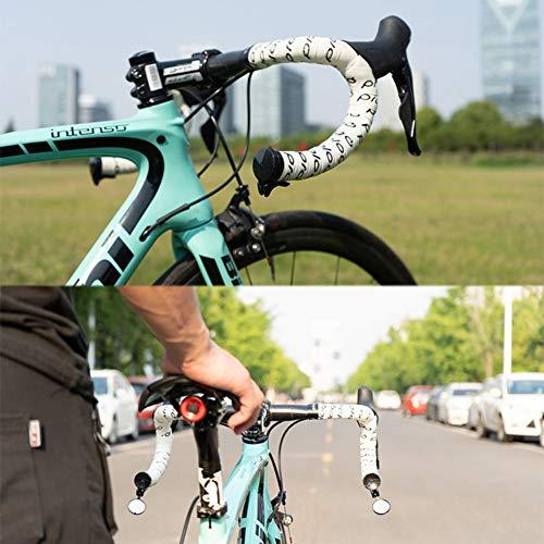 alpscale Flexibler Fahrrad Rückspiegel Lenkerendenspiegel MTB Lenker Datensicherheit Rückspiegel Rennrad Rückspiegel