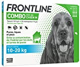 FRONTLINE Combo Chien - Anti-puces et anti-tiques pour chien - 10-20kg - 6 pipettes