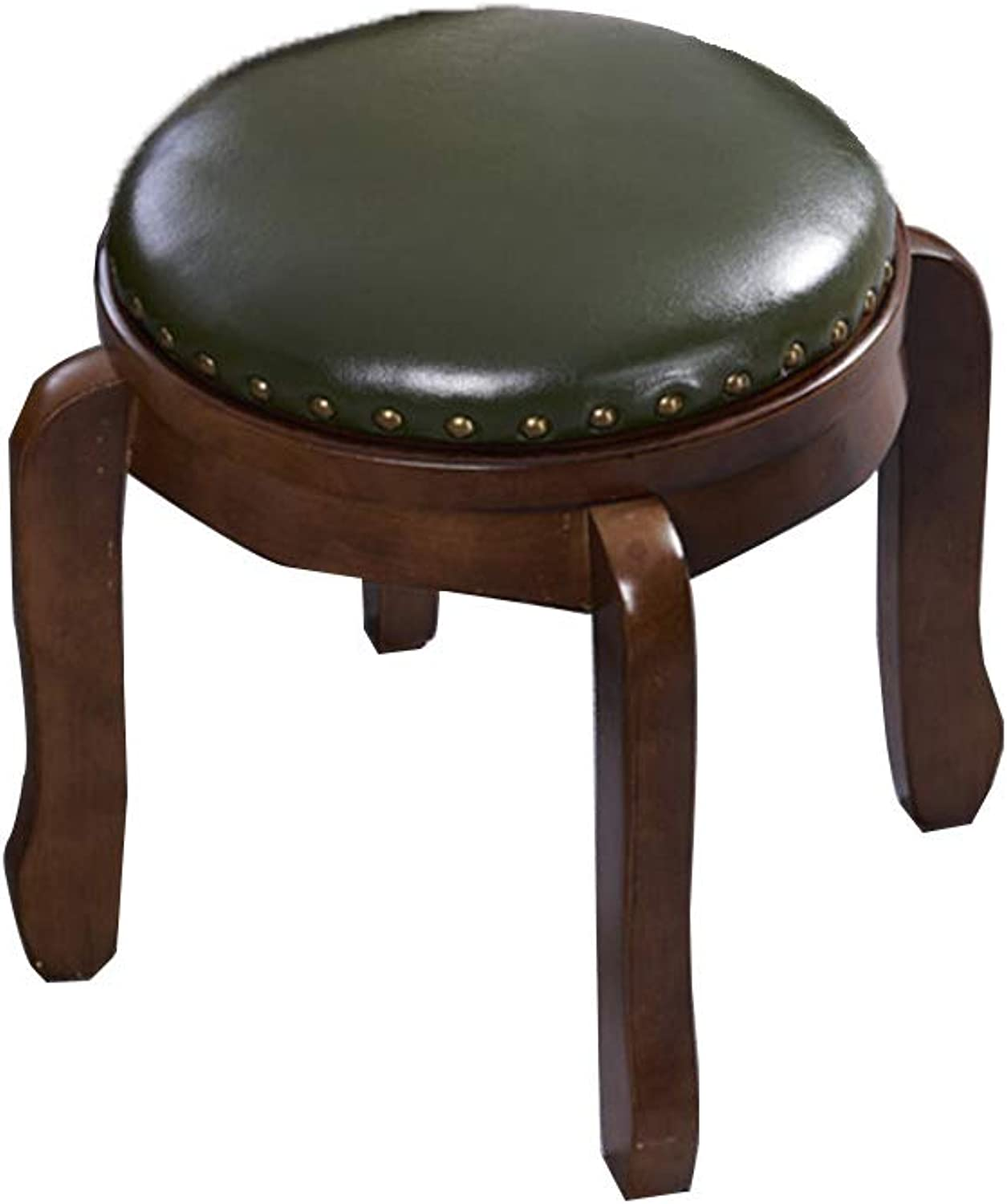 ZHAOYONGLI-stools Footstool shoes Bench Sofa Stool Change shoes Bench Wooden Stool Solid Wood Living Room Round Adult Stack Home Multi-function Stool Multifunction Household Creative