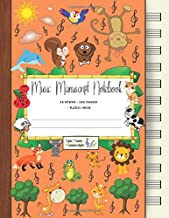 Music Manuscript Notebook: Blank Sheet Music / Cute Animals Music Notebook / Blank Sheet Music / Notebook for Musicians / Staff Paper / Composition ... * Large * 12 Stave * 102 pages *