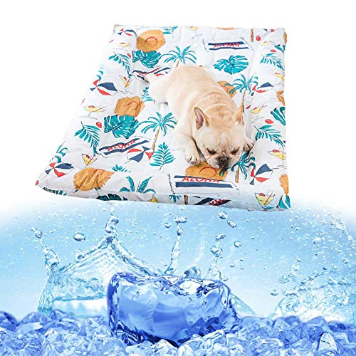 FCCD Alfombrilla RefrigeracióN Alfombra Fresca para Perros Cama De Gel De Enfriamiento Manta FríA No TóXico CojíN De Enfriamiento para Perros Gatos Mascotas En Verano(L)