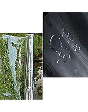 S SMAUTOP Heavy Duty Waterdicht,PVC transparante dekzeil Poly Clear Vinyl Tarp Cover,0,35mm Clear luifel Patio Behuizing,365g/m² Anti-Aging Isolatie Zacht Glas Geteerd zeildoek (2,4x5m/7,9x16,4ft)