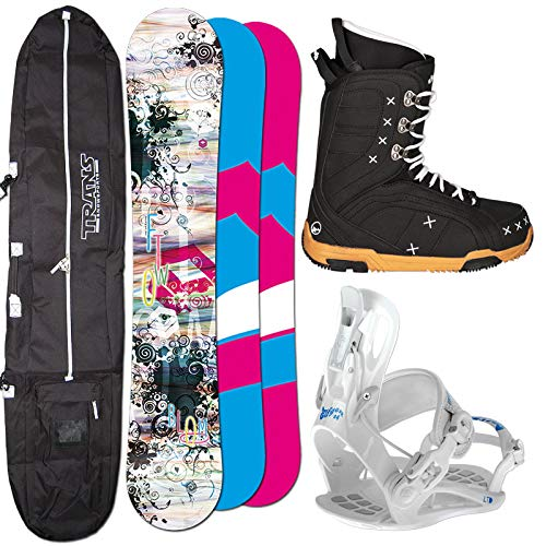Ftwo Damen Snowboard Bloom 154 cm + FASTEC Bindung GR. M + Boots + Bag