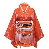 BLESSUME 和服 ミニ コスプレ 浴衣 上着 ショート かわいい 羽織 着物ドレス 花魁ドレス 夏祭り 花火大会 和服コスプレ コスチューム (橘)