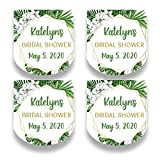 Set of 30 Tropical Mini Party Favor Labels - Palm Leaf Labels for Shower or Wedding Favors - Tropical Party Favor Stickers for Mini Plastic Bottles - Labels ONLY (HSL120)