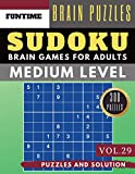 Sudoku Medium: Jumbo 300 SUDOKU medium difficulty with solution Brain Games Puzzles Books for Adult and Senior (sudoku medium puzzle books Vol.29)