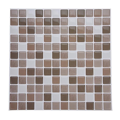 Tile & Sticker, Piastrelle Adesive con Motivo 3D in Gel a Mosaico, di Alta Qualità, Accessorio Durevole di Accessori per Decorazioni Fai Da Te, per Casa Camera da Letto Soggiorno Bagno(YJC0007)
