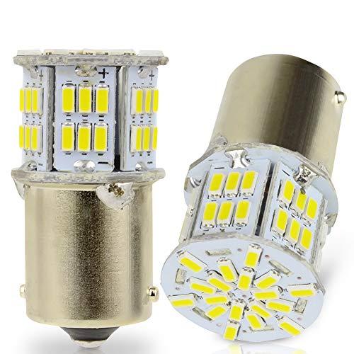 LncBoc 1156 BA15S LED Bombilla 3014 54SMD P21W Blanca LED para Automóvil para Las Luces de Reserva Luces de Freno, Luces Traseras Luz Fría 6000K 1 Año Garantía Paquete de 2