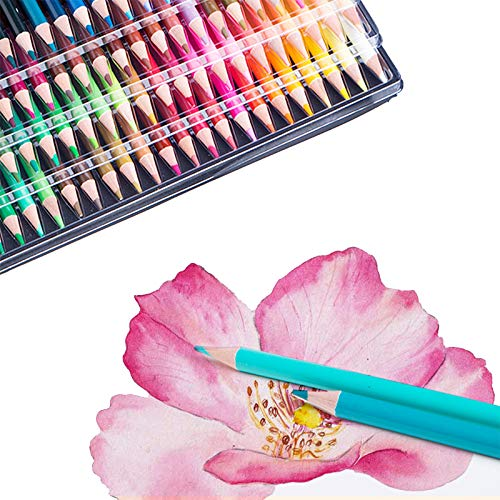 150 Watercolor Pencil Set, Professional Watercolor Pencils set for Coloring Books, with Brush, Water-Soluble Pencil, Professional Numbered Art Pencils for Painting, Coloring, Mixing and Layering