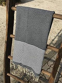 200x200cm Nid dabeille Rayures Fines Gris Clair 100/% Coton Serviette de Plage Fouta Tunisienne