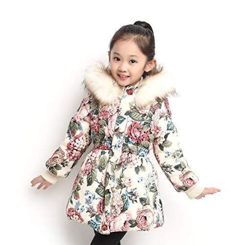 ZXYSR Kinder Junge Mädchen Daunenjacken Daunenmantel Fashion Lang Kälteschutz Warm Verdickte Winterjacke Mit Kapuze (Körpergröße 110-170CM),A,170CM