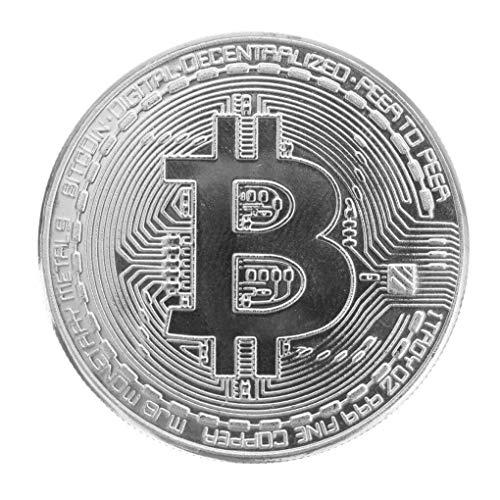 Yongse verzilverde Bitcoin munt BTC munt kunst collectie EDC Gadget