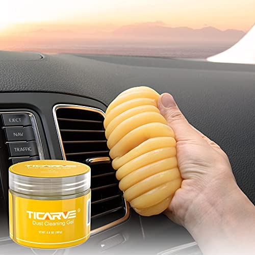 TICARVE Car Cleaning Gel Car Detailing Putty Car Cleaning Putty Gel Auto Detailing Tools Car Interior Cleaner Car Cleaning Kits Cleaning Slime Keyboard Cleaner Yellow
