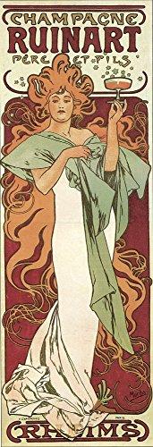 The Poster Corp Alphons Mucha – Champagne Ruinart 1896 Kunstdruck (20,32 x 25,40 cm)