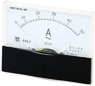 X-DREE 44L1 AC 0-50A Plastic Case Vertical Mount Analog Ammeter Amperemeter(Amperometro analogico con amperometro analogic...