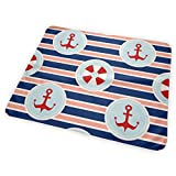 Zcfhike Changing Pad Maritime Mood Portable Diaper Changing Pad - for Baby Showers Changing Mats and Reusable Detachable Wipe Able Mat- Unisex