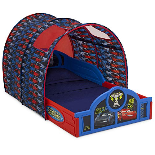 Disney/Pixar Cars Sleep and Play Toddler Bed with Tent by Delta Children