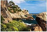 NOBRAND Puzzle 1000 Piezas Paisaje Marino Rocoso En El Mar Mediterráneo En La Costa Española En Lloret De Mar Costa Brava Arte Bricolaje para Adultos Mayores Adultos
