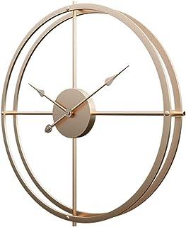 GODNECE Reloj Pared 60 cm Vintage Silencioso Reloj Pared Rustico Metal Grande Diseño