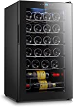Slsy 24 Bottle Wine Cooler with Compressor Cooling System, Freestanding Wine Refrigerator Red and White Wine Chiller, Quiet Operation Fridge with Digital Temperature Control
