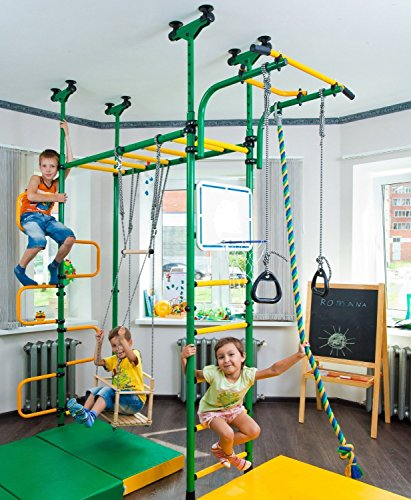 Pegas: Children's Indoor Home Gym Swedish Wall Playground Set Gymnastic Ladder Horizontal bar Moving...