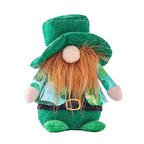 QiFei Valentinstag/Irisches Festival St. Patrick's Day/Ostern Dekoration Gesichtslose Puppe Partytisch-Ornamente, Zwerg Plüschpuppe für Desktop Schlafzimmer Wohnzimmer Kamin Dekor
