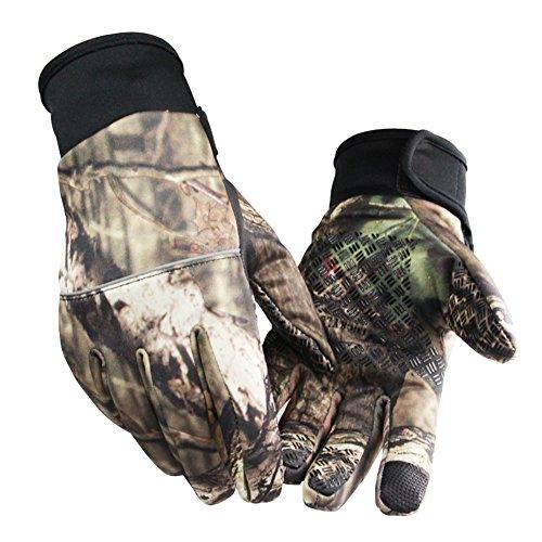 Zantec Jagd Handschuhe, Unisex Camouflage Screen Touch Handschuhe Winter Anti Slip Outdoor Sport Camping