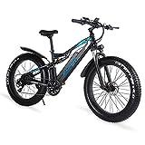 GUNAI Elektrofahrrad 1000w Herren 26 Zoll Fat Tire Mountainbike mit Abnehmbarer 48V 17AH...