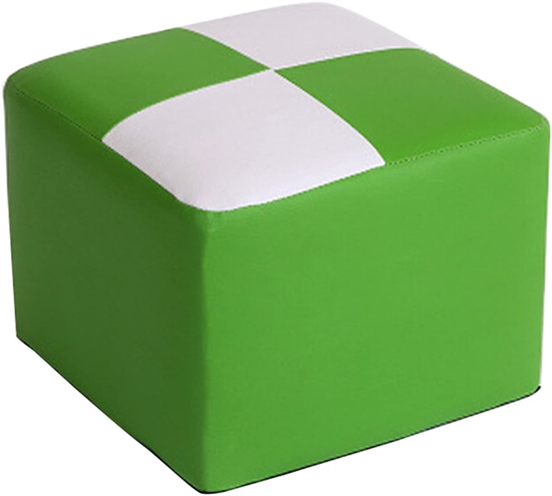 Fashion solid wood shoes stool   stool fabric stool   sofa stool   coffee table stool   home stool   PU stool stool ( color   Green , Size   262026cm )