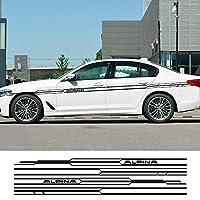 JIERS BMW E36 E39 E46 E90 E91 E92 E93 E21 E28 E30 E34 E60 E61 F30 F10 F32 F35、車のロングサイドストライプステッカーデカールカーステッカー