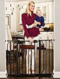 Best Baby Gates For Stairs - Regalo Home Accents Safety Gate, Black Review