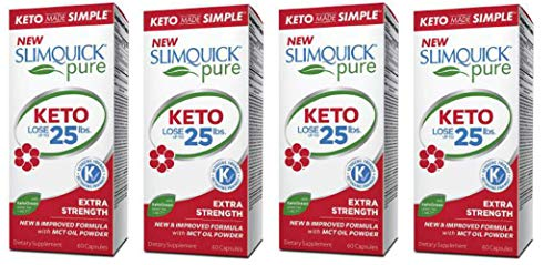 Slimquick Pure Extra Strength Caplets, powerful dietary supplement, 60 count, Lose 3x the weight (Packaging May Vary)(Pack of 4)