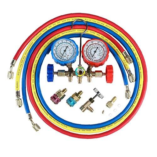 Klimaanlage Kältemittel Diagnoseanzeige AC Diagnose Manifold Endmaßsatzes Manifold Diagnose Fluorine Manifold Tabelle Anzeiger-Prüfvorrichtung