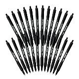 BIC Soft Feel Retractable Ball Point Pen, Fine Point, Black Ink (24-Count, Black, Fine Point)