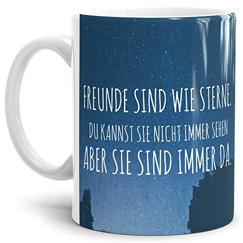 Tasse mit Spruch Freunde Kaffeebecher mit Motiv, Bedruckte Tasse mit Sprüchen