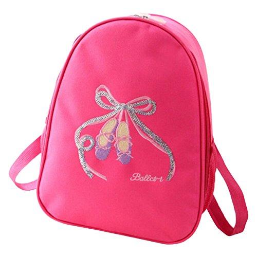 Little Baby Toddler Princess School Dance Training Bag for Ballet Latin Gymnastics Outfit Shoes Leotard Zipper up